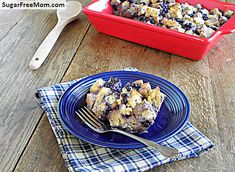 Wild Blueberry Breakfast Strata / sugarfreemom.com