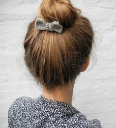 bun + little bow.