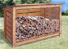 firewood storage shelter plans