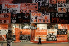 Wording for signs.... love the one team one town one family perfect for GHS