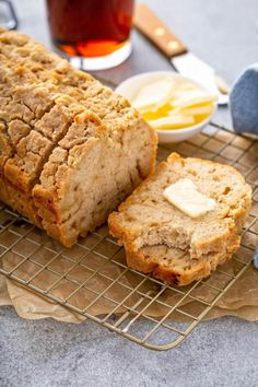 This flavorful Buttery Beer Bread is incredibly easy way to make bread without yeast. It bakes up with a perfect buttery crust and tender inside! #BeerBread #BeerBreadRecipe #QuickBread #QuickBreadRecipes #Bread #BreadRecipes #PantryStables #EasyBreadRecipes #BeerRecipes