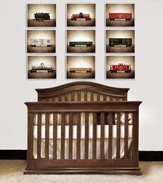 futur nurseri, train print, vintage train decor, vintag train, baby boy train nursery