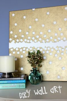 gold circles canvas art by Just Kali Rae