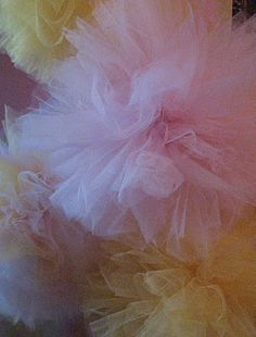 Tulle pom poms...these are so pretty!
