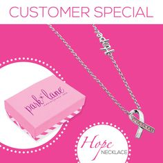Hope Necklace can be yours for $14 (usually $69) when you place an order. Proceeds donated to Children's Cancer Research. #parklanejewelry