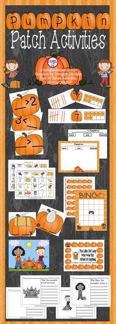 Sharing Kindergarten: Pumpkin Patch Activities