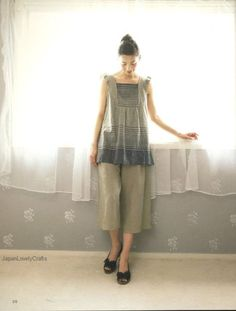 Tunic Blouse OnePiece Dress for All Season by JapanLovelyCrafts