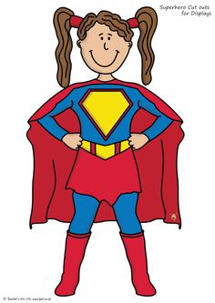Teacher's Pet - Large Superhero Cut Outs - FREE Classroom Display Resource - EYFS, KS1, KS2, superheroes, super, hero, heroes