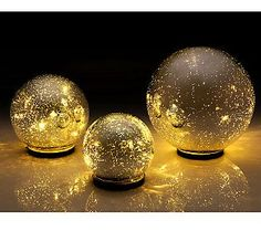 These glowing spheres will add elegance and shine to indoor settings and outdoor spaces!