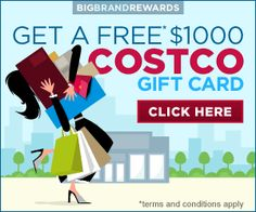Free Costco $1000 Gift Card!
