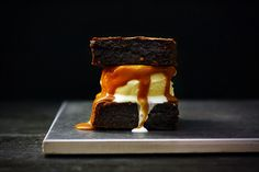 Flourless Chocolate Peanut Butter Brownies by Citrus and Candy