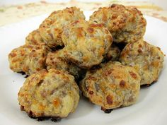 Boursin Sausage Balls with cream cheese....