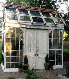 Green house double doors for bigger equipment.