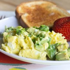 Avocado Scrambled Eggs - quick, easy, and healthy breakfast!