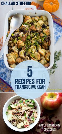 5 recipes to transform your Thanksgiving in to Thanksgivukkah!