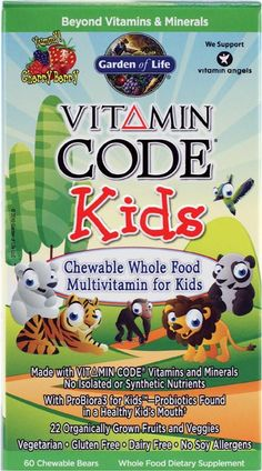 Vitamins can be healthy AND fun! Vitamin codes kids has vitamins from organically grown veggies and fruits.