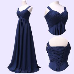 2014 Long Straps Formal Evening Bridesmaid Wedding Dress Prom Party Gown Dresses #Unbranded #BallGown #Cocktail