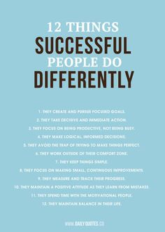 Successful People Quote - 12 Things Successful People Do Differently