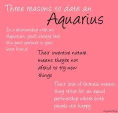 ZODIAC/ASTROLOGY : 3 REASONS TO DATE AN AQUARIUS