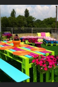 pallet project, wooden pallet, color, picnic tables, pallet furniture, old pallets, garden, pallet tables, outdoor projects