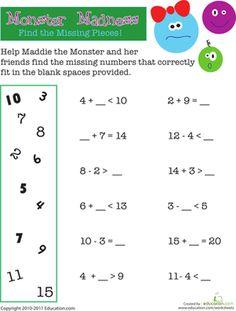 Math Worksheets on Pinterest | 44 Pins