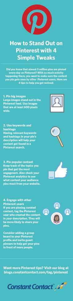 If you're a Pinterest user, you know that pinning on Pinterest happens fast and furiously. How do you make your content stand out and get noticed? Here are 4 simple tweaks