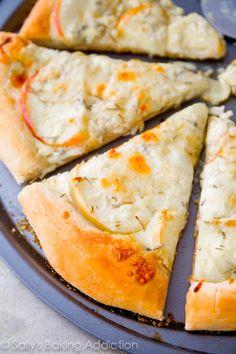 Caramelized Apple Gorgonzola Pizza.