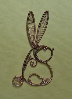 Wire Doodle Rabbit before Polymer Clay | Flickr - Photo Sharing!