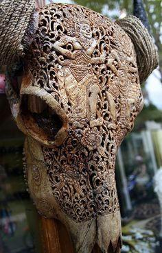 Hand-carved in Bali