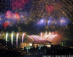 Riverfest fireworks in Cincinnati.  always fantastic