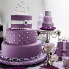 #Purple Ideas. My #50 wedding anniversary dream cake. 4yrs and counting! :) So pretty!