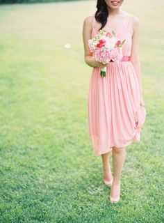 Pink Bridesmaid Dress | photography by http://www.claryphoto.com