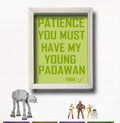 YODA QUOTE  Star Wars Wall Art Star Wars by StarWarsPrintShop, $11.00