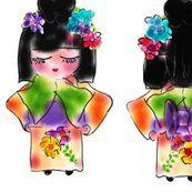 craft, japan, kokeshi doll, jasmine, blue butterfli, soft doll, fabric, jasmin dolli, jazzi jasmin