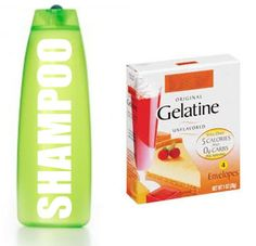 Pour one package of unflavored gelatin into your normal shampoo. Shake well and use as often as you wash hair. The gelatin shampoo will add texture to thin hair.