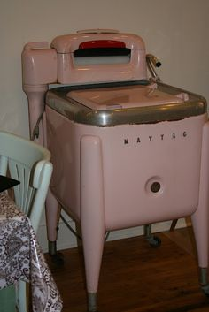Vintage Pink Washing Machine!