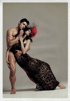Roberto Bolle and Mariacarla Boscono