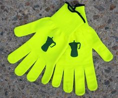 Embrocation / Defeet Hi Viz Gloves ($20)