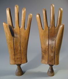Wooden hand forms