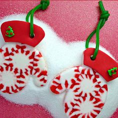 Glove Melted Peppermint Ornaments