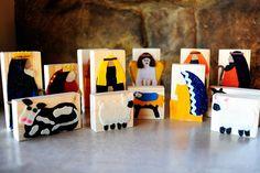 nativity sets, wood blocks, nativity crafts, wooden blocks, felt nativ, kid crafts, nativity scenes, block nativ, christma