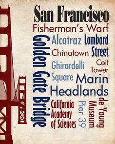 Sights of San Francisco Poster - Starts at $14.00