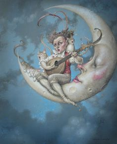 by Daniel Merriam fantasi artist, moon song, merriam artist, songs, goodnightsleep tightmoon, merriam moon, artist creation, llunadaniel merriam1jpg, illustr