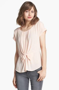 Loving the bow detail on this pleated blouse!