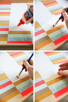 DIY stripe tray