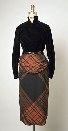 Dress  House of Balmain (French, founded 1945)  Designer: Pierre Balmain (French, St. Jean de Maurienne 1914–1982 Paris) Date: ca. 1950 Culture: French