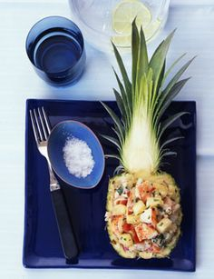 Lobster and Pineapple Salad with Basil and Mint - I want to try this sooo bad. pineapples, mints, pineappl salad, salad recipes, lobsters, lobster recipes, salads, basil, lobster salad