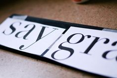 how to make your own lettering on signs--genuis!
