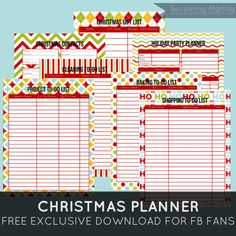 PinLaVie... Make your pins come true – Christmas Planner Printables