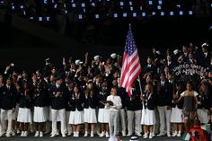 Team USA at the Olympic opening ceremony